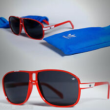 adidas Originals Red Aviator Sunglasses Fashion Eyewear Shades + Pouch Case Box