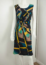 New without Tags VERONIKA MAINE pure silk Dress with gathered bust ~Sz 10
