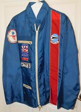 VTG 1970s Rockwell Flying Club California USAF Patches RACING FLIGHT Jacket