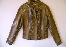 Vintage, Yvonne & Marie, Snakeskin( python) Leather Jacket, size medium