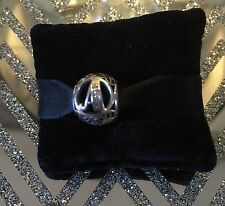 Genuine Pandora Silver Vintage Letter A Charm 791845CZ With Pandora Gift Pouch