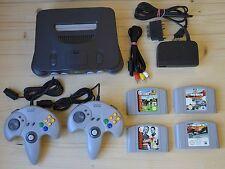 N64 - Nintendo 64 Konsole mit 2 Controller + 4 Spiele (guter Zustand)