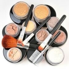 15 XL Makeup Kit TAN Minerals w/ 5 Brush Great Cover Bare Skin Sheer Finish