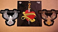 lot of 3 HARLEY DAVIDSON EMBROIDERED PATCHES