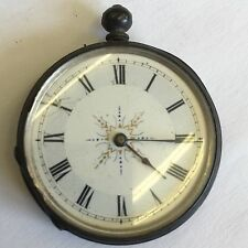 Antique Solid Silver Swiss Pocket Fob Watch Not Working A/F Spairs / Repair