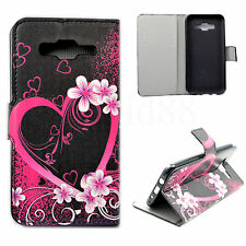 Book Flip Style Leather Cell Phone Wallet Case For Samsung Galaxy J5 SM-J500F