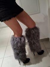 Magnifiques bottes Gianmarco Lorenzi taille 40 en daim et la vrai fourrure