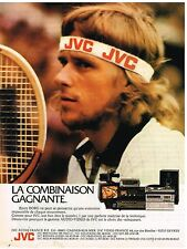 Publicité Advertising 1980 Hi Fi Audio Video JVC Bjorn Borg