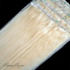 """20"""" Long 100% Human Remy Hair Seamless Tape-in Extensions #613 (Platinum Blonde)"""