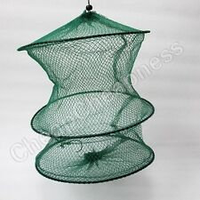 2 Layer Crab Fish Shrimp Minnow Fishing Bait Trap Cast Dip Net Cage GS