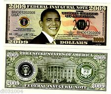 FEDERAL INAUGURAL USA OBAMA NOTE ETATS UNIS 2009 $ DOLLARS NEUF UNC