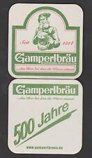 BD - Bierdeckel - Coaster , 500 Jahre Gampertbräu, Weissenbrunn/ Kronach /Bayern