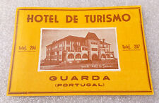 Vintage Old Rare ✱ HOTEL TURISMO / PORTUGAL ✱ Luggage label Kofferaufkleber 50`