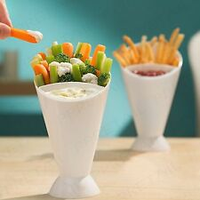 2 x SNACK CONE + DIP HOLDER French Fries/Chip/Bites/Finger Food/Sauce/Bowl/Pair