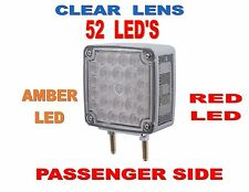 52 LED Double Face Turn Signal (Pass) Amber/Red LED w/clear lens    SEMI-TRUCK
