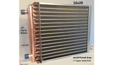 "16x20  Water to Air Heat Exchanger 1"" Copper Ports"