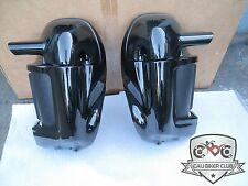 Vivid Gloss Black Pair Lower Vented Leg Fairings FOR Harley-Davidson Touring