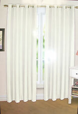 Emma Barclay Ringtop Faux Silk Curtains - Cream/Gold - 65 x 54 - SS 327