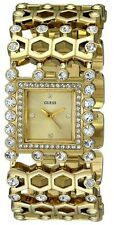 NEW GUESS GOLD TONE,CRYSTAL GLITZ, BRACELET,BANGLE WATCH-U0574l2
