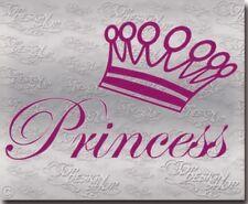Princess Aufkleber für Prinzessinnen- Girl - Mädchen Prinzessin Krone Sticker