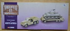 NEW Corgi WWII #CC55108 Diamond T Tank Transport with M4 Sherman Tank 1:50