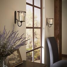 Wall Mounted Metal Sconces Bubble Glass Candle Holders Pillar Candles Sconce Set