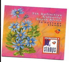 SOUTH AFRICA  2001  FLOWERS BOOKLET, SB 63 MNH AND COMPLETE