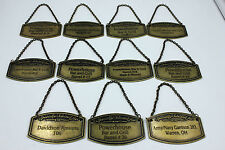 11 PCS JACK DANIELS TENNESSEE SINGLE BARREL METAL NECK HANG TAGS ALL DIFFERENT