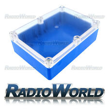 Multi Purpose Waterproof DIY Project Box Enclosure Case IP65 ABS Blue / Clear