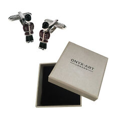 Mens 3D Queens Guardsman Soldier Cufflinks & Gift Box - London Gift By Onyx Art