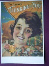POSTCARD  THINKING OF YOU - SHEET MUSIC COVER