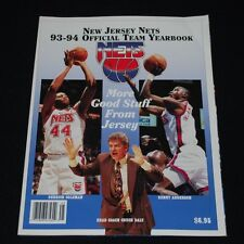 1993-94 New Jersey Nets Basketball Yearbook-NM-Derrick Coleman, Kenny Anderson