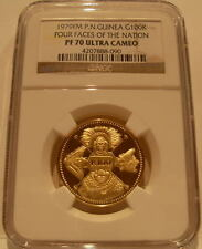 Papua New Guinea 1979FM Gold 100 Kina NGC PF-70UC Four Faces of The Nation