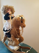 SANTAS BEST ANIMATED CHRISTMAS HOLIDAY GIRL ON ROCKING HORSE MOTIONETTE