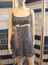 Brown Tulle Sequined Evening Short Dress BCBG Maxazria Sz Large NWT MSRP $376