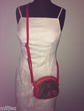 NWT*KIPLING CROSS-BODY BAG+3 COMPARTMENTS+GORGEOUS RED PATENT*SUPERMIX MARCELLA