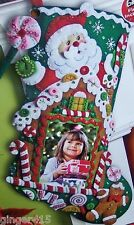 Bucilla NEW Release Gingerbread House Picture Frame Felt Christmas Stocking Kit