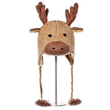 New Winter Hat Wool Manny Moose Hat Youth  Adult Size FAIR TRADE PRODUCTS
