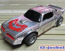 für Slotcar Racing Modellbahn --  Corvette mit  Tyco Chassis und Fahrlicht
