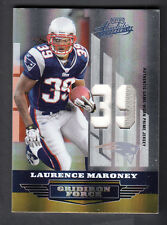 Laurence Maroney 2008 Playoff Absolute Gridiron Force Prime Game Jersey # Patch