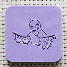 5X5CM Bird Soap Seal Stamp Mold Chapter Natural Acrylic Glass Custimized DIY
