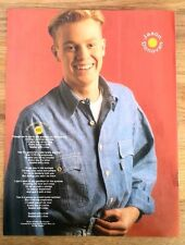 JASON DONOVAN 'Sealed With A Kiss' magazine PHOTO/Poster/Clipping 11x8 inches