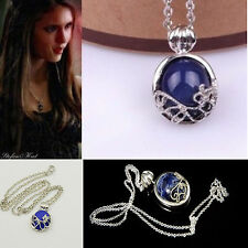 Blue Stone Pendant Elegant Necklace Vampire Diaries Inspired Gift Xmas UK