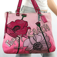 NEW Coach Poppy Ombre Floral Applique Glam Shoulder Bag Tote 16340 New RARE