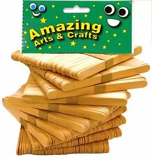 500 Natural Wooden Craft Lollipop  Lolly Stick by Amazing Arts and Crafts.