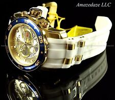 Invicta Men Pro Diver Scuba Swiss 18k Gold Plated Stainless Steel Blue Dial Watc