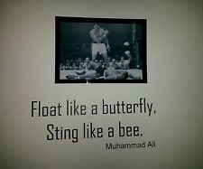 Muhammad Ali Boxing Framed Poster  A4 and vinyl quote...