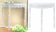 FLOURISH 3-LEG HALF MOON DISTRESSED WHITE CONSOLE HALLWAY ACCENT TABLE ** NIB