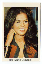 1970s Swedish Pop Star Card #705 American Paper Roses Singer Marie Osmond
