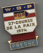 Orig.Teilnehmer Pin  XXVII.Internationale Friedensfahrt 1974 - PRESSE !! RARITÄT